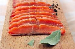 Rebanadas de pescados rojas Imágenes de archivo libres de regalías