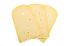 Rebanadas de queso Fotos de archivo