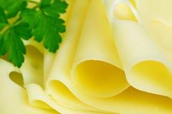 Rebanadas de queso imagen de archivo