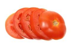 Rebanadas de tomate Imagen de archivo libre de regalías