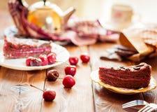 Rebanadas de torta Foto de archivo libre de regalías