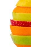 Rebanadas de Verschiedne de frutas Imágenes de archivo libres de regalías