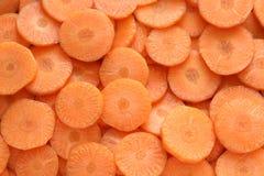 Rebanadas de zanahoria fresca Fotografía de archivo libre de regalías