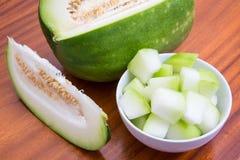 Rebanadas del melón de invierno Fotos de archivo