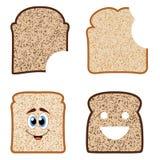 Rebanadas del pan Imagenes de archivo