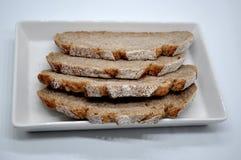 Rebanadas del pan Foto de archivo