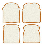 Rebanadas del pan blanco Imagenes de archivo