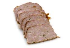Rebanadas del pan de carne Fotografía de archivo