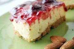 Rebanadas del pastel de queso Foto de archivo libre de regalías