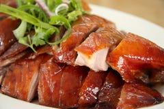 Rebanadas del pato de carne asada Foto de archivo libre de regalías