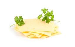 Rebanadas del queso suizo Foto de archivo libre de regalías
