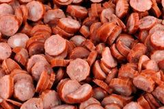 Rebanadas del salami Imagen de archivo libre de regalías