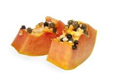 Rebanadas frescas de la papaya foto de archivo libre de regalías