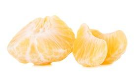 Rebanadas frescas del mandarín Imagen de archivo