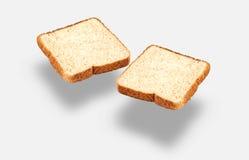 Rebanadas ligeras de pan integral Imagenes de archivo