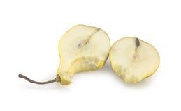 Rebanadas mordidas de la pera Imagen de archivo libre de regalías