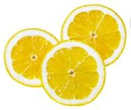 Rebanadas redondas de limón Imagen de archivo