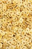 Rebanadas secadas del plátano Imágenes de archivo libres de regalías
