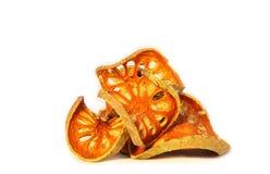 Rebanadas secas de fruta de Bael (marmelos de Aegle) Fotografía de archivo