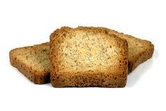 Rebanadas tostadas del pan Fotos de archivo libres de regalías