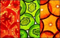 Rebanadas tricoloras Fotos de archivo