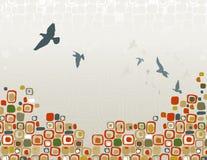 Rebanho da silhueta dos pássaros Imagens de Stock Royalty Free