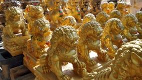 Rebanho do aculpture de pedra do leão imagem de stock royalty free