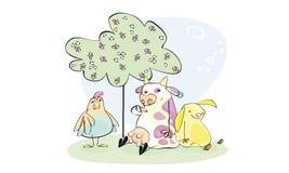Rebanhos animais Ilustração do Vetor