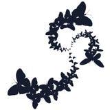 Rebanhos das borboletas Ilustração do vetor Fotos de Stock