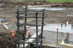 Rebar δομή για την κατασκευή 2 στυλοβατών Στοκ φωτογραφία με δικαίωμα ελεύθερης χρήσης