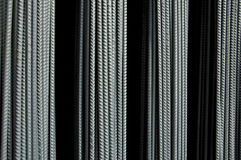 Rebar 2. A Railcar load of Steel Reinforcement Bars used in construction Stock Photo