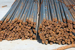 Rebar bundles Royalty Free Stock Images