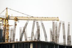 Rebar column in construction site Royalty Free Stock Photography