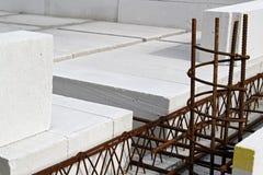 Rebar construction Stock Image