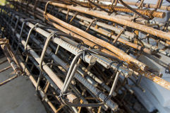 Rebar construction site Stock Images