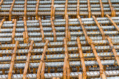 Rebar at construction site Royalty Free Stock Photo