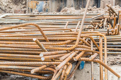 Rebar corrosion. Royalty Free Stock Photography