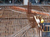Rebar de chantier de construction Image stock