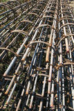 Rebar empilé Image stock