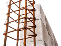 Rebar form building wall construction Royalty Free Stock Image