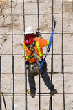 Rebar Grid. Tying rebar on a construction project Stock Images