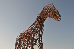 Rebar horse sculpture Stock Photos
