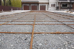 Rebar for New Driveway Stock Images