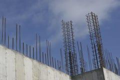 Rebar reinforcement. Detail at a construction site Stock Photo