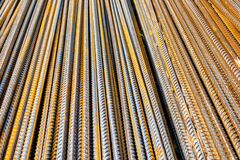 Free Rebar Rods Covered With Rust Lying Stock Photography - 178021372