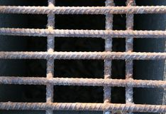 Rebar rouillé en métal Images stock