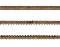 Rebar steel filled rust Stock Images