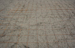 Rebar to add strength to the concrete. Royalty Free Stock Image