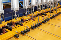 Rebar welding machine Royalty Free Stock Photo