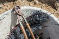 Rebar wiąże narzędzie Fotografia Royalty Free